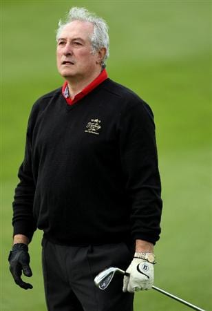 NEWPORT, WALES - JUNE 02:  Gareth Edwards, Wales rugby legend, in action during the Pro Am prior to the start of the Celtic Manor Wales Open on The Twenty Ten Course at The Celtic Manor Resort on June 2 2010 in Newport, Wales.  (Photo by Andrew Redington/Getty Images)