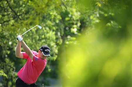 MILAN, ITALY - MAY 07:  Alastair Forsyth of Scotland plays a tee shot during the pro - am of the MC Methorios Capital Italian Open Golf at The Castello Di Tolcinasco Golf Club on May 7, 2008 in Milan, Italy.  (Photo by Stuart Franklin/Getty Images)