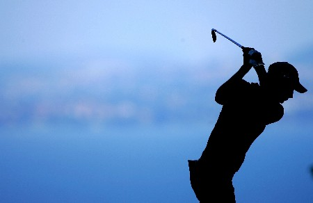 EVIAN, FRANCE - JULY 28:  Laura Diaz of the USA hits her tee shot on the 2nd hole during the third round of The Evian Masters on July 28, 2007 in Evian, France.  (Photo by Andy Lyons/Getty Images)