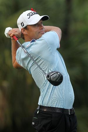 PONTE VEDRA BEACH, FL - MAY 14:  Nick Watney hits his tee shot on the second hole during the third round of THE PLAYERS Championship held at THE PLAYERS Stadium course at TPC Sawgrass on May 14, 2011 in Ponte Vedra Beach, Florida.  (Photo by Scott Halleran/Getty Images)
