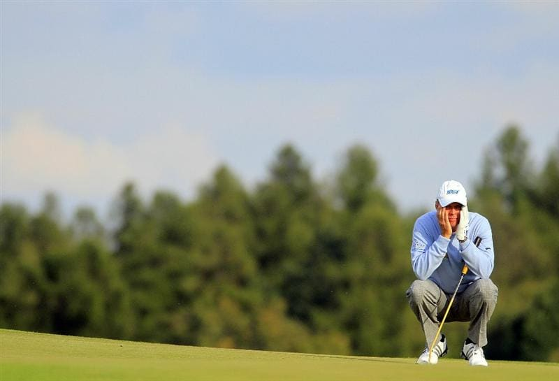 KUTNA HORA, CZECH REPUBLIC - SEPTEMBER 18:  Gary Wolstenholme of England looks on during the second round of the Casa Serena Open played at Casa Serena Golf on September 18, 2010 in Kutna Hora, Czech Republic.  (Photo by Phil Inglis/Getty Images)