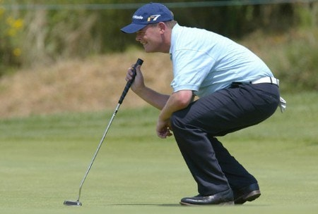 David Drysdale (SCO) in action during the first round of the 2005 Open de France at Le Golf National in St. Quentin, France on June 23, 2005.Photo by Alexanderk/WireImage.com