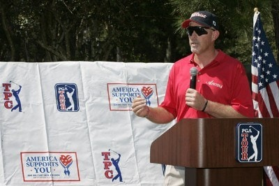 Frank Lickliter II thanks everyone for supporting  the troops and playing in the 2006 America Supports You Charity Golf Tournament held at TPC at Sawgrass, Ponte Vedra Beach, FL. on September 25, 2006.   Photo by: Stan Badz/PGA TOURPhoto by: Stan Badz/PGA TOUR