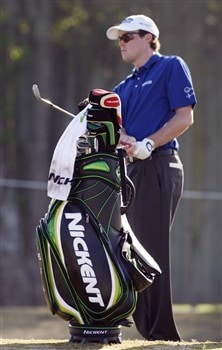 LAFAYETTE, LA - MARCH 27:  Kyle Reifers practices with his Nickent bag during the first round of the 2008 Chitimacha Louisiana Open at the Le Triomphe Country Club March 27, 2008 in LaFayette, Louisiana.  (Photo by Dave Martin/Getty Images)