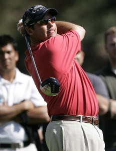 Rich Beem in action during the second round of the PGA TOUR's 2007 Nissan Open at Rivera Country Club in Pacific Palisades, California on February 16, 2007. PGA TOUR - 2007 Nissan Open - Second RoundPhoto by Steve Grayson/WireImage.com