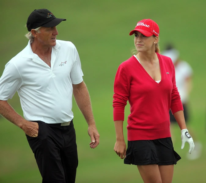 Greg Norman and Belen Mozo