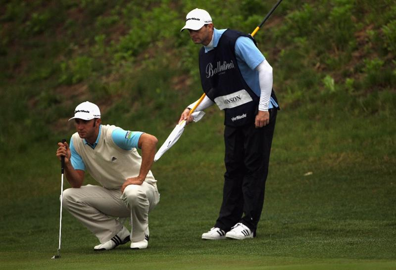 ICHEON, SOUTH KOREA - APRIL 30:  Dustin Johnson of the USA in action during the third round of the Ballantine's Championship at Blackstone Golf Club on April 30, 2011 in Icheon, South Korea.  (Photo by Andrew Redington/Getty Images)