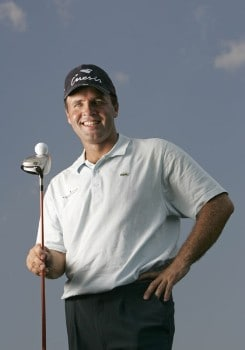 Thomas Levet poses for a portrait during practice for the NEC Invitational at Firestone Country Club in Akron, Ohio on August 17, 2005.Photo by Sam Greenwood/WireImage.com