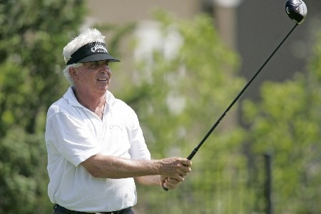 Dave Eichelberger watches a drive during the final round of the Bayer Advantage Classic held at LionsGate Golf Course in Overland Park, KS. on June 12, 2005Photo by G. Newman Lowrance/WireImage.com