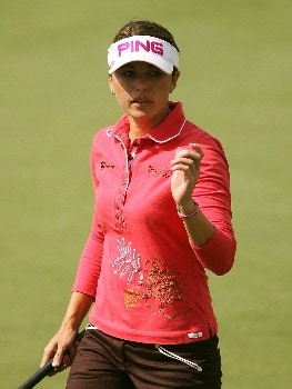 HUIXQUILUCAN, MEXICO - MARCH 11:  Stacy Prammanasudh waves after a birdie on the fourth hole during the completion of the second round of the MasterCard Classic at Bosque Real Country Club on March 11, 2007 in Huixquilucan, Mexico.  (Photo by Scott Halleran/Getty Images)
