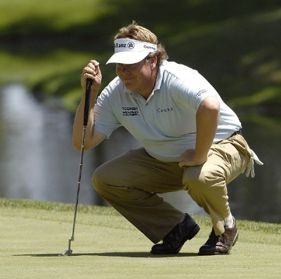 SILVIS, IL - JULY 12:  Tim Herron on the 18th hole during the first round of The John Deere Classic at the TPC Deere Run on July 12, 2007 in Silvis, Illinois.  (Photo by Marc Feldman/WireImage) *** Local Caption *** Tim Herron PGA - John Deere Classic - First RoundPhoto by Marc Feldman/WireImage) *** Local Caption *** Tim Herron