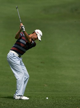PALM HARBOR, FL - MARCH 8:  Sean O'Hair plays a shot on the first hole during the third round of the PODS Championship at Innisbrook Resort and Golf Club March 8, 2008 in Palm Harbor, Florida.  (Photo by Sam Greenwood/Getty Images)