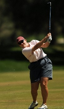 Moira Dunn in action during the final round of the 2005 LPGA Takefuji Classic at the Las Vegas Country Club in Las Vegas, Nevada, April 16, 2005.Photo by Steve Grayson/WireImage.com