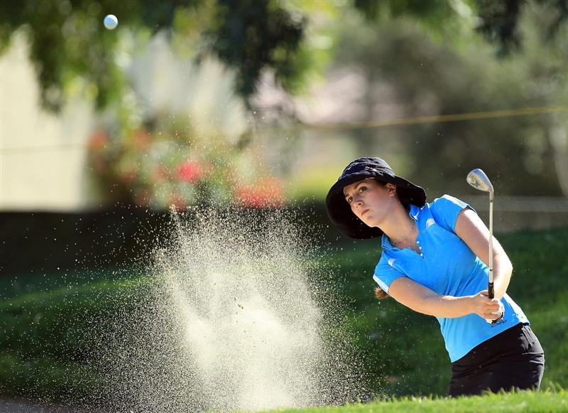RANCHO MIRAGE, CA - APRIL 01:  Sandra Gal of Germany on the 7th hole during the first round of the 2010 Kraft Nabisco Championship, on the Dinah Shore Course at The Mission Hills Country Club, on April 1, 2010 in Rancho Mirage, California.  (Photo by David Cannon/Getty Images)