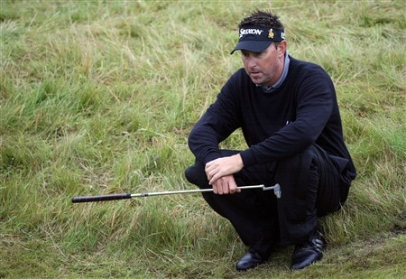 SOUTHPORT, UNITED KINGDOM - JULY 18:  Robert Allenby of Australia ponders his next shot on the 6th during the second round of the 137th Open Championship on July 18, 2008 at Royal Birkdale Golf Club, Southport, England.  (Photo by Andy Lyons/Getty Images)