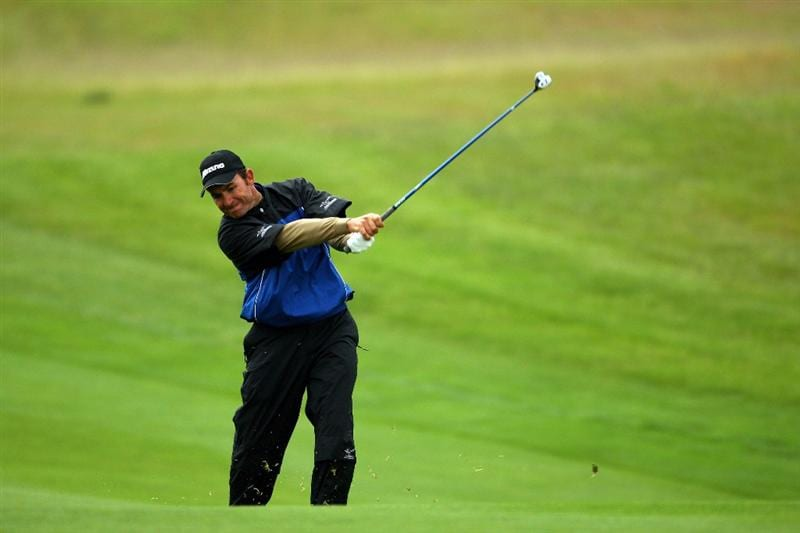 NEWPORT, WALES - JUNE 06:  Ignacio Garrido of Spain plays his approach to the 1st green during the third round of the Celtic Manor Wales Open on the 2010 Course at The Celtic Manor Resort on June 6, 2009 in Newport, Wales.  (Photo by Richard Heathcote/Getty Images)