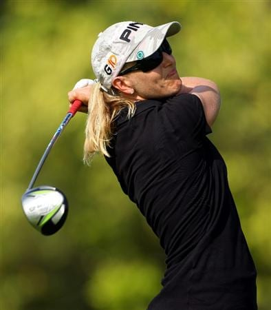 SINGAPORE - MARCH 06:  Carin Koch of Sweden in action during the second round of the HSBC Women's Champions at Tanah Merah Country Club on March 6, 2009 in Singapore.  (Photo by Andrew Redington/Getty Images)