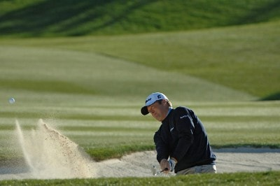 Dudley Hart blasts out of the greenside bunker on the 16th hole  during the fifth and final round of the Bob Hope Classic at The Classic Course on Sunday, January 21, 2007 in Palm Springs, California PGA TOUR - 2007 Bob Hope Chrysler Classic - Final RoundPhoto by Marc Feldman/WireImage.com