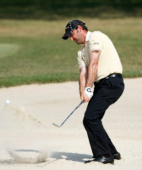 HONG KONG - NOVEMBER 17:  Mahal Pearce of New Zealand plays his bunker shot on the 13th hole during the third round of the UBS Hong Kong Open at the Hong Kong Golf Club on November 17, 2007 in Fanling, Hong Kong.  (Photo by Stuart Franklin/Getty Images)