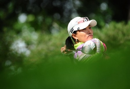 OTTAWA - AUGUST 15:  Se Ri Pak of South Korea makes a tee shot on the 14th hole during the second round of the CN Canadian Women's Open at the Ottawa Hunt and Golf Club on August 15, 2008 in Ottawa, Ontario, Canada.  (Photo by Robert Laberge/Getty Images)