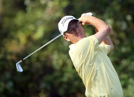 LAKE BUENA VISTA, FL - NOVEMBER 02:  Jim Rutledge of Canada tees off at the 8th hole on the Palm Course during the second round of The Childrens Miracle Network Classic held on the Palm and Magnolia Courses at The Disney Shades of Green Resort, on November 2, 2007 in Lake Buena Vista, Florida.  (Photo by David Cannon/Getty Images)