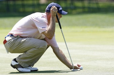 Jonathan Byrd on the 16th green during the first round of the 2006 Verizon Herizon Heritage Classic Thursday, April 13, 2006, at Harbour Town Golf Links in Hilton Head Island, South Carolina.Photo by Kevin C.  Cox/WireImage.com