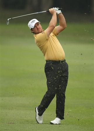 HONG KONG - NOVEMBER 18:  Graeme McDowell of Northern Ireland looks on after playing an approach shot during day one of the UBS Hong Kong Open at The Hong Kong Golf Club on November 18, 2010 in Hong Kong, Hong Kong.  (Photo by Ian Walton/Getty Images)