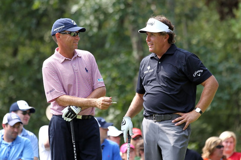 Davis Love III and Phil Mickelson
