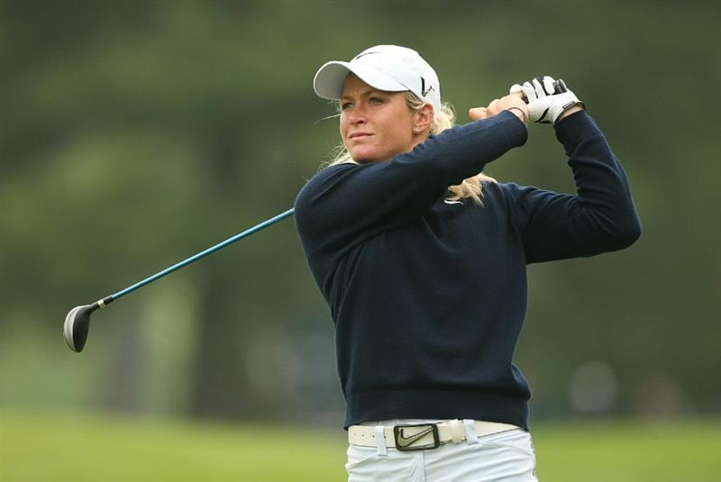CLIFTON, NJ - MAY 16 : Suzann Pettersen of Norway hits her second shot on the 7th hole during the third round of the Sybase Classic presented by ShopRite at Upper Montclair Country Club on May 16, 2009 in Clifton, New Jersey. (Photo by Hunter Martin/Getty Images)