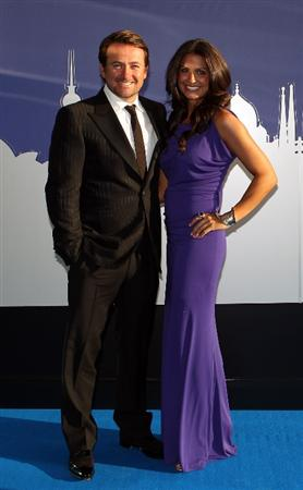 LONDON, ENGLAND - MAY 24:  Graeme McDowell and Kristen Stape arrive for the European Tour Players Awards Dinner at the Heathrow Sofitel Hotel on May 24, 2011 in London, England.  (Photo by Richard Heathcote/Getty Images)