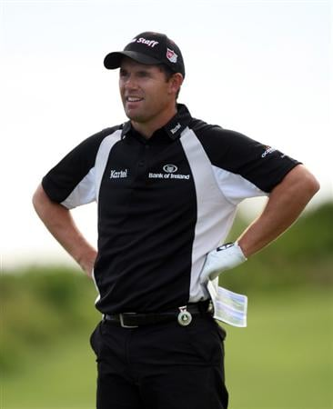 TUCKER'S TOWN, BERMUDA - OCTOBER 15: Padraig Harrington of Ireland on the 18th hole during the final round of the PGA Grand Slam of Golf at the Mid Ocean Club on October 15, 2008 in Tucker's Town, Bermuda. (Photo by Ross Kinnaird/Getty Images)