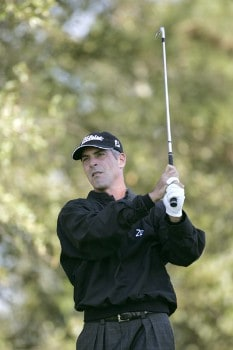 David Branshaw during the second round of the Nationwide Tour Championship held  on the Senator course at Capitol Hill GC in Prattville, Alabama on Friday, October 28, 2005.Photo by Sam Greenwood/WireImage.com