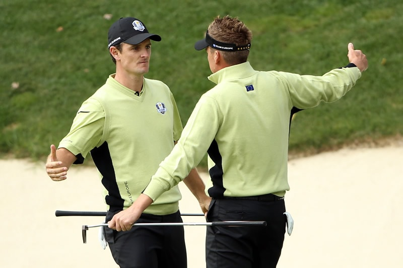 Justin Rose and Ian Poulter