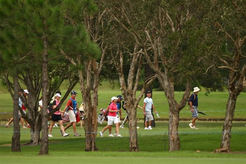 GOLD COAST, AUSTRALIA - MARCH 05:  Karrie Webb of Australia walks up the 7th fairway during round two of the 2010 ANZ Ladies Masters at Royal Pines Resort on March 5, 2010 in Gold Coast, Australia.  (Photo by Ryan Pierse/Getty Images)
