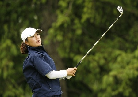 CLIFTON, NJ - MAY 18:  Angela Park hits her tee shot on the 15th hole during the second round of the LPGA Sybase Classic at Upper Montclair Country Club on May 18, 2007 in Clifton, New Jersey. (Photo by Hunter Martin/Getty Images)