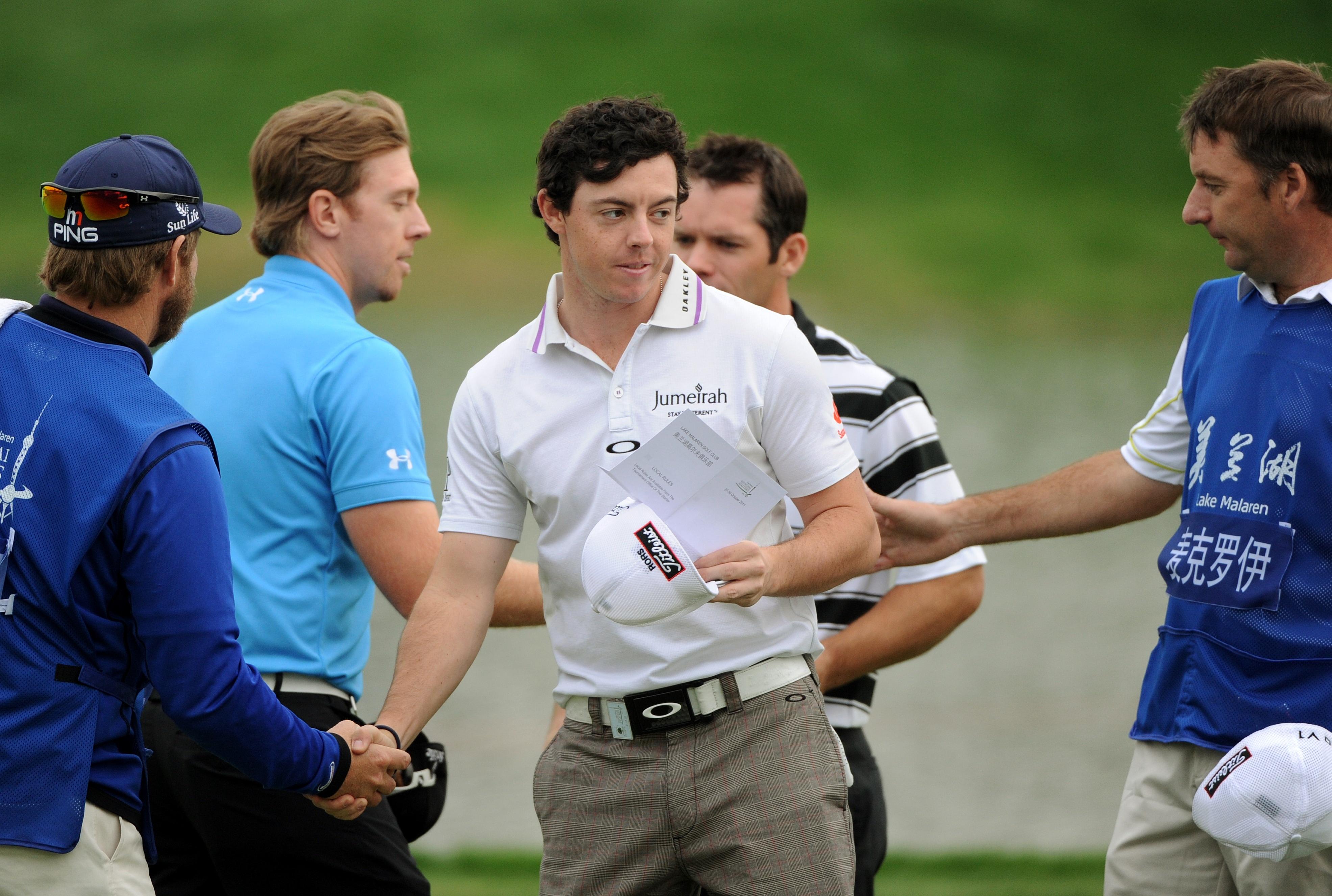 Rory McIlroy, Hunter Mahan and Paul Casey