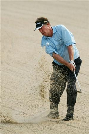 PONTE VEDRA BEACH, FL - MAY 07:  Michael Allen plays a shot from a bunker on the 11th hole during the first round of THE PLAYERS Championship on THE PLAYERS Stadium Course at TPC Sawgrass on May 7, 2009 in Ponte Vedra Beach, Florida.  (Photo by Scott Halleran/Getty Images)