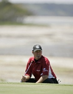Jerry Kelly during the final round of the Verizon Heritage Classic at the Harbour Town Golf Links in Hilton Head, South Carolina on April 16, 2007 Photo by Michael Cohen/WireImage.com