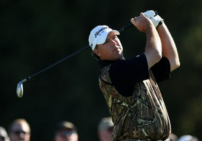 LA JOLLA, CA - JANUARY 28:  Boo Weekley tees off the 12th hole during the second round of the Farmers Insurance Open at Torrey Pines on January 28, 2011 in La Jolla, California. (Photo by Donald Miralle/Getty Images)