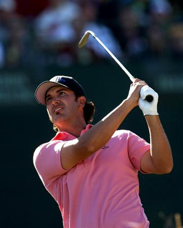 SCOTTSDALE, AZ - JANUARY 31:  Scott Piercy hits his tee shot on the 16th hole during the third round of the FBR Open on January 31, 2009 at TPC Scottsdale in Scottsdale, Arizona.  (Photo by Stephen Dunn/Getty Images)