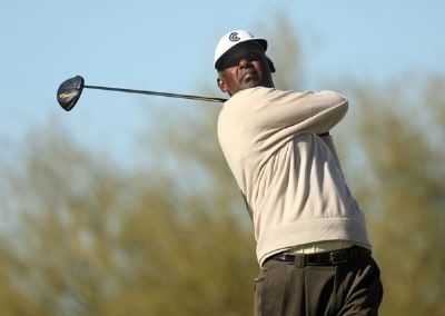 Vijay Singh of Fiji hits his tee shot on the 15th hole during the first round of the FBR Open on January 31, 2008 at TPC of Scottsdale in Scottdsdale, Arizona. PGA TOUR - 2008 FBR Open - Round OnePhoto by Stephen Dunn/Getty Images