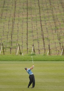 Matt Weibring hits from the 8th fairway during the first round of the Nationwide TOUR's 2006 Livermore Valley Wine Country Championship at The Course at Wente Vineyards in Livermore, California March 30, 2006.Photo by Steve Grayson/WireImage.com