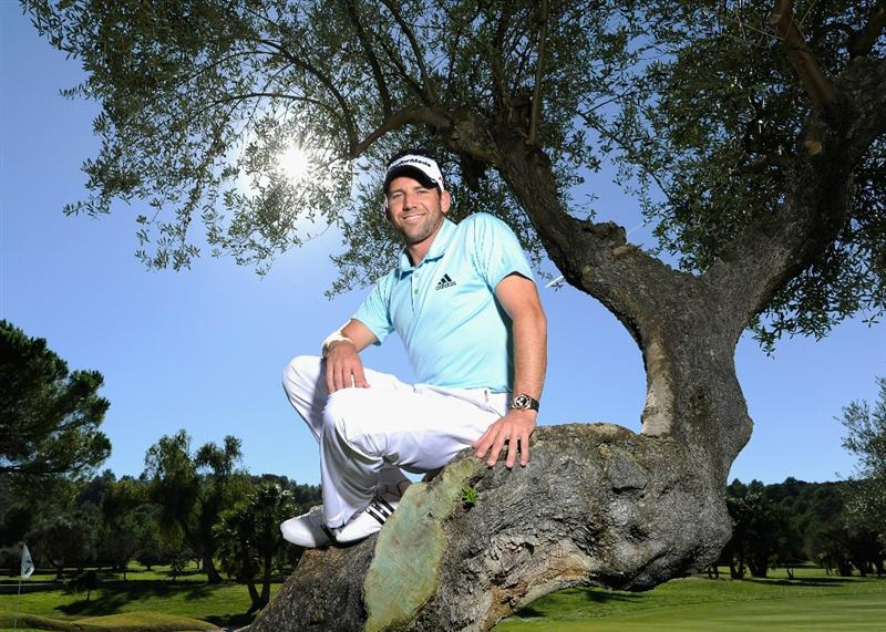 CASTELLON DE LA PLANA, SPAIN - OCTOBER 19:  Sergio Garcia of Spain poses for a photograph as he returns to playing after a two month break. He is seen at his home club during previews for the Castello Masters Costa Azahar at the Club de Campo del Mediterraneo on October 19, 2010 in Castellon de la Plana, Spain.  (Photo by Stuart Franklin/Getty Images)