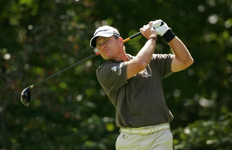 NORTON, MA - SEPTEMBER 06:  Scott Verplank looks on during the third round of the Deutsche Bank Championship at TPC Boston held on September 6, 2009 in Norton, Massachusetts.  (Photo by Michael Cohen/Getty Images)
