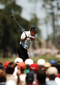 Gavin Coles hits from the first tee during the final round of the 2005 Shell Houston Open at the Redstone Golf Club in Houston, Texas April 24, 2005.Photo by Steve Grayson/WireImage.com