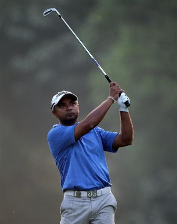 KUALA LUMPUR, MALAYSIA - MARCH 04: Rahil Gangjee of India during the first round of the Maybank Malaysia Open at the Kuala Lumpur Golf & Country on March 4, 2010 in Kuala Lumpur, Malaysia.  (Photo by Ross Kinnaird/Getty Images)