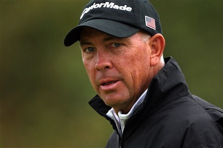 SOUTHPORT, UNITED KINGDOM - JULY 16:  Tom Lehman of USA looks on during the third practice round of the 137th Open Championship on July 16, 2008 at Royal Birkdale Golf Club, Southport, England. (Photo by Warren Little/Getty Images)