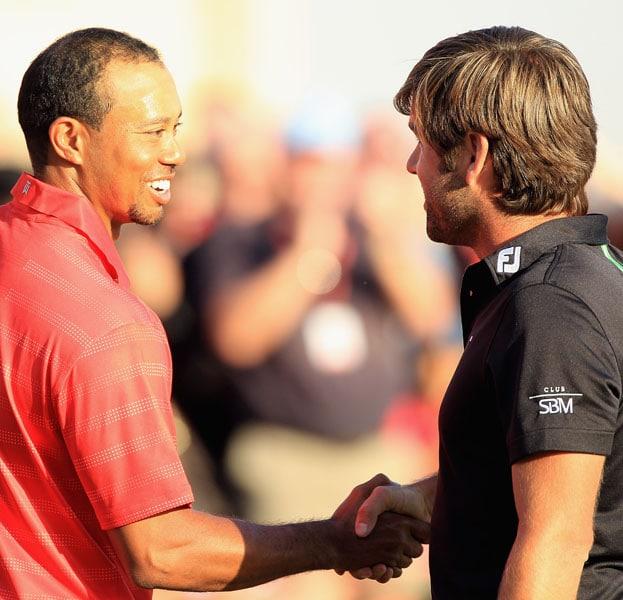 Tiger Woods and Robert Rock
