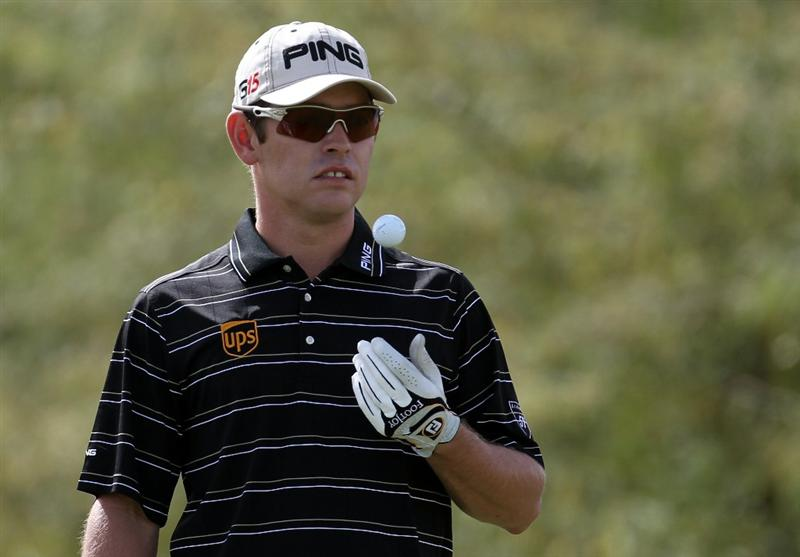 DOHA, QATAR - FEBRUARY 05:  Louis Oosthuizen of South Africa during the third round of the Commercialbank Qatar Masters at the Doha Golf Club on February 5, 2011 in Doha, Qatar.  (Photo by Ross Kinnaird/Getty Images)
