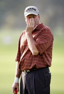 D.A. Weibring reacts after a missed putt on #16 during the second round of the Charles Schwab Cup Championship at Sonoma Golf Club October 26, 2007 in Sonoma, California. Champions Tour - 2007 Charles Schwab Cup Championship - Second RoundPhoto by Chris Condon/PGA TOUR/WireImage.com